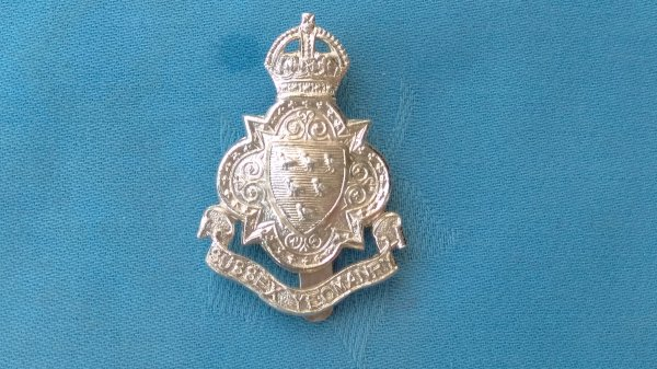 The Royal Sussex Yeomanry cap badge.