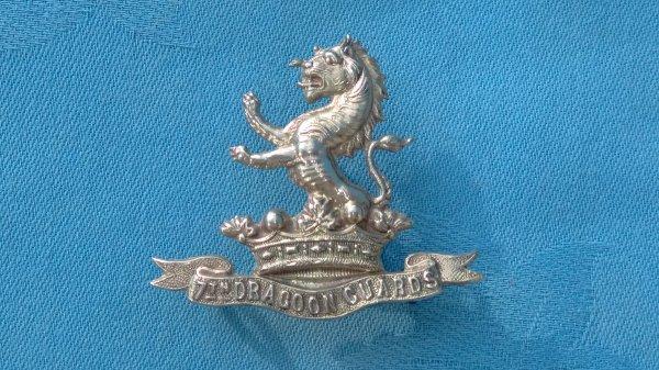 The 7th Dragoon Guards ( Princess Royal ) cap badge.