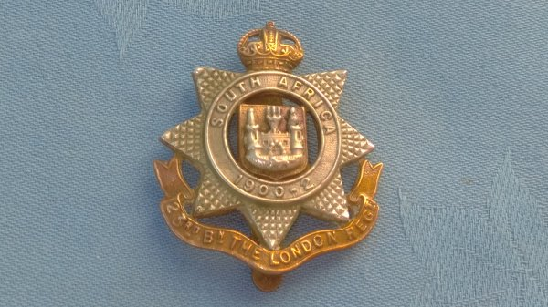 The 23rd Battalion City of London cap badge.