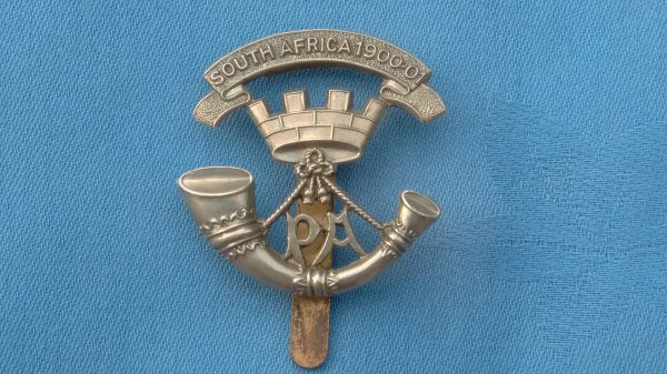 The 4th/5th Battalions Somerset Light Infantry cap badge.