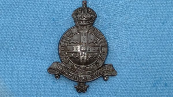 The Cambridgeshire University Officers Service Dress cap badge.