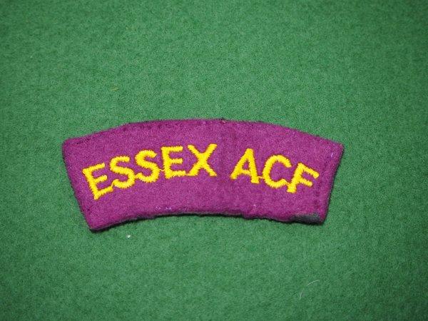 Essex ACF cloth shoulder title pair