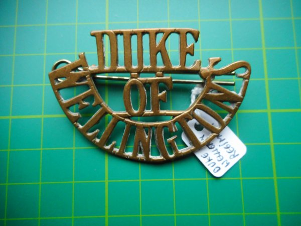 Duke of Welligton, Metal Shoulder Title.