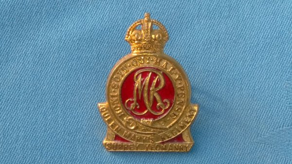 The Surrey Yeomanry cap badge.