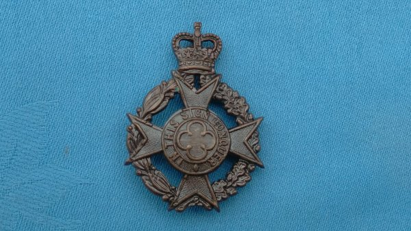 The Army Chaplin Department Christian Officers cap badge.
