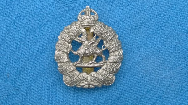 The Monmouthshire Regiment cap badge.