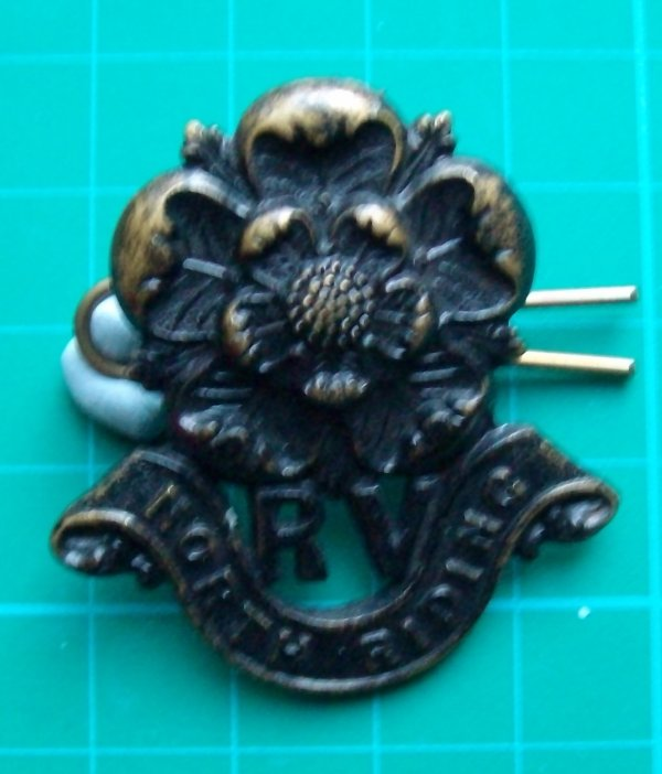 Genuine (not a copy)Cap Badge North Riding Rifle Volunteers
