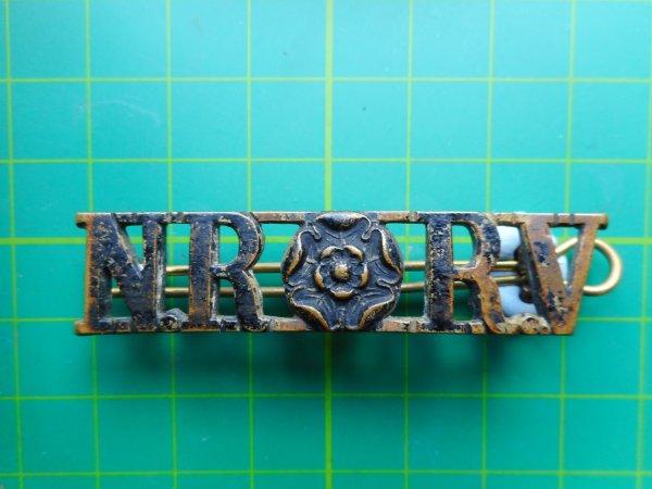 North Yorkshire Rifle Volunteer Shoulder Title (Gaunt Made)