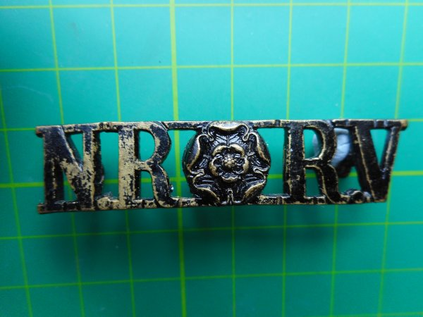 North Riding Rifle Volunteers Shoulder Title (Gaunt Made)
