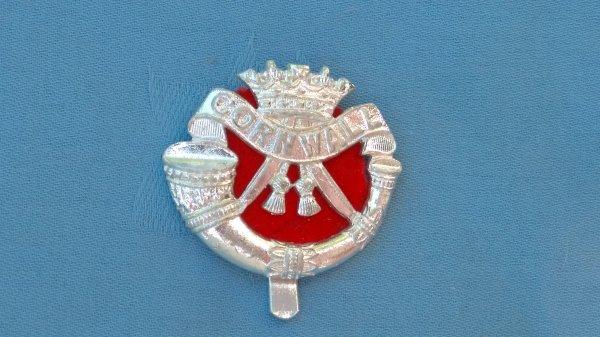 The Duke of Cornwalls Light Infantry cap badge.
