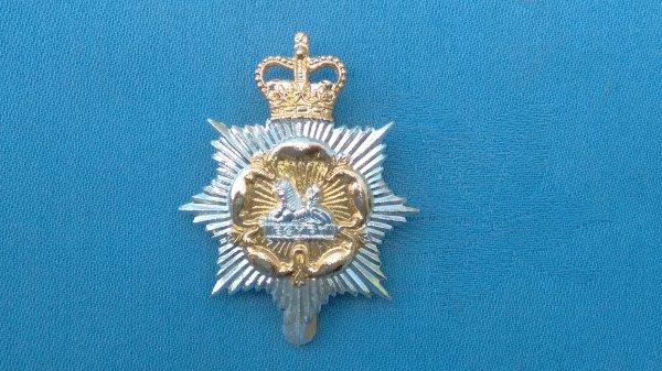 The Gloucestershire&Hampshire Territorials cap badge.