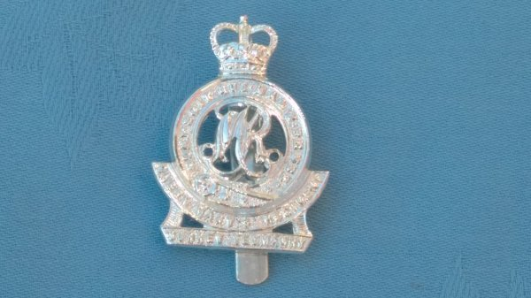 The Queen Mary Regiment-Surrey Yeomanry cap badge.