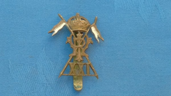 The 21st Lancers cap badge.