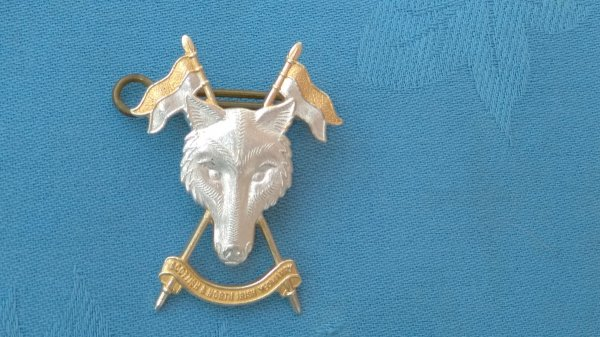 The Scottish&North Irish Yeomanry cap badge.