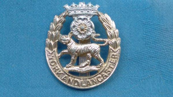 The York&Lancaster Regiment cap badge.