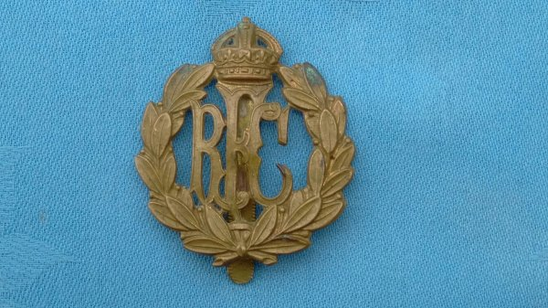 The Royal Flying Corp cap badge.