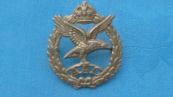 The Army Air Corp cap badge.