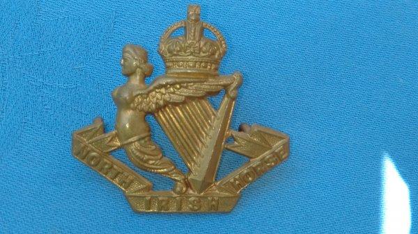 The North Irish Horse Yeomanry cap badge.