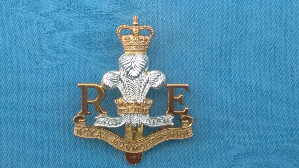 The Monmouthshire Engineers cap badge.