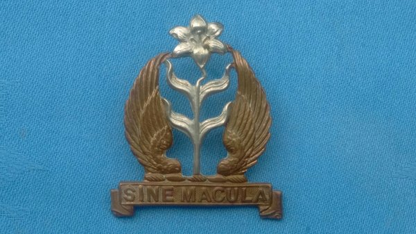 The Mount St Marys College Officer Training Corp cap badge.