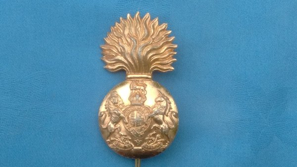 The Royal Scots Fusiliers cap badge.
