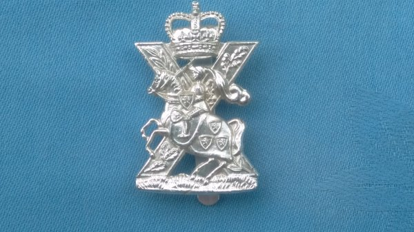 The Scottish Horse Yeomanry cap badge.