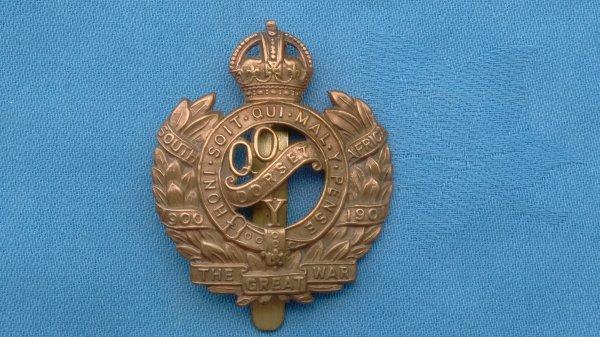 The( Queens own  Dorset Yeomanry ) Field Regiments RA cap badge.