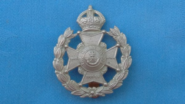 The 7th Battalion ( Robin Hood ) Sherwood Foresters cap badge.