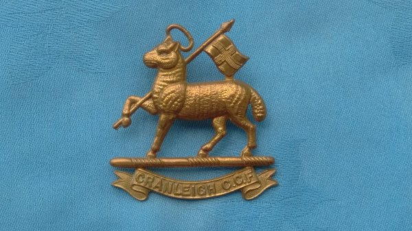 The Cranleigh Combined Cadet Force cap badge.