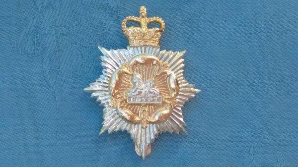 The Royal Regiment of Gloucestershire&Hampshire cap badge.