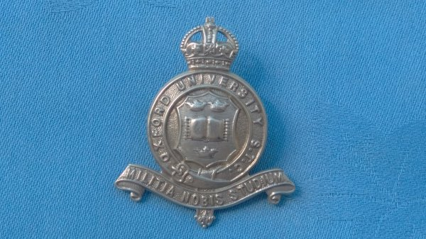 The Oxfordshire University Officer Training Corp cap badge.