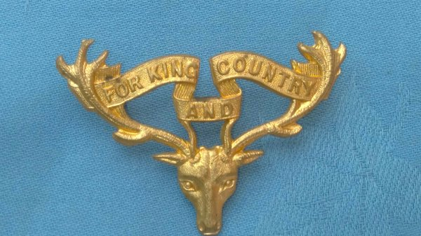 The 12th Otago ( Mounted ) Rifles cap badge.
