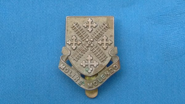 The Millfield School Officer Training Corp cap badge.