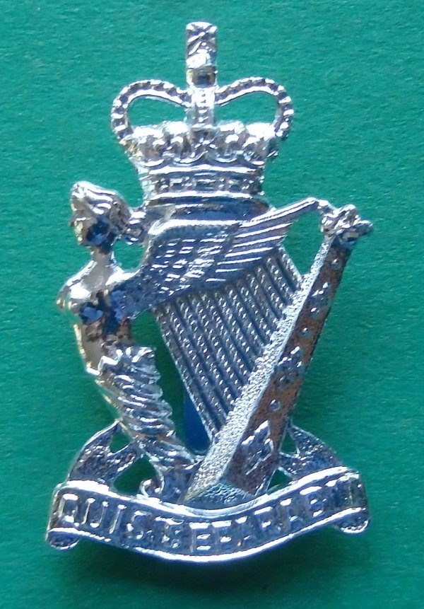 The Royal Ulster Rifles Staybrite Cap Badge