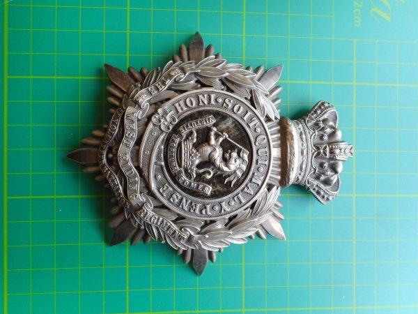 Officers Helmet Plate 1st VB West Riding Regiment.