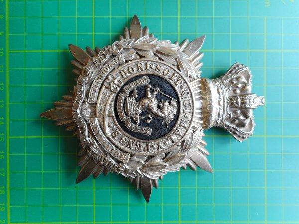 Officers Helmet Plate 2nd Battalion West Riding Regiment.