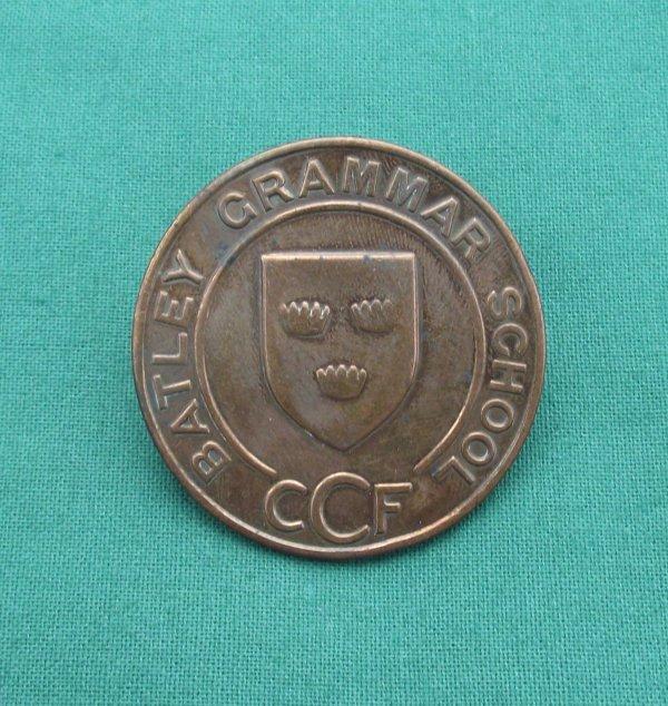 Scarce Batley Grammar School CCF Cap Badge