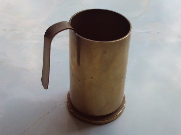 Trench Art - 1956 Dated Bofors 40 mm Shell Case Mug
