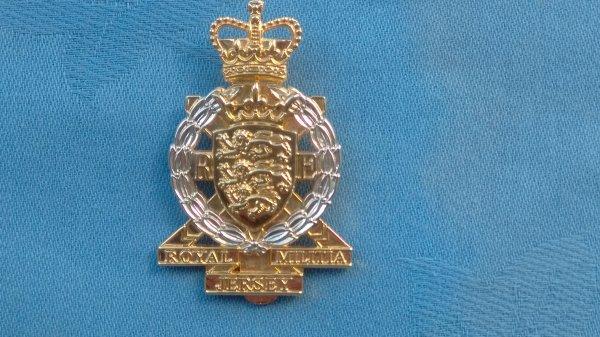 The Jersey Royal Engineers Militia cap badge.