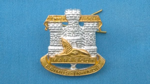 The Devonshire&Dorsetshire Regiment Officers cap badge.