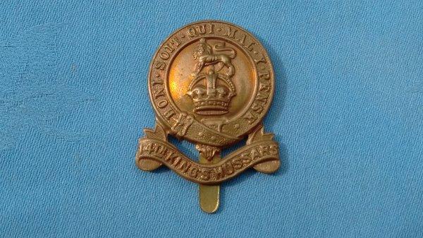 The 14th Kings Hussars cap badge.