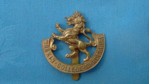 The Wrekin College Shropshire Officer Training Corp cap badge.