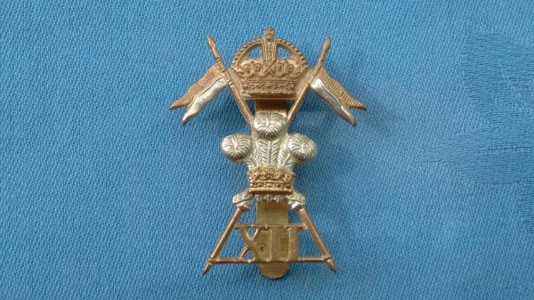 The 12th Lancers cap badge.