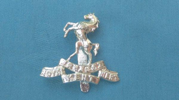 The Royal West Kent Regiment cap badge.