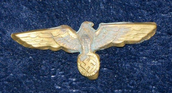 WW2 German Navy Eagle with Swastika (no pin)
