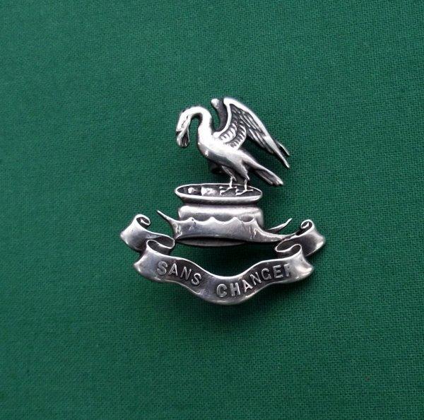 Genuine Liverpool Pals HM Silver Cap Badge