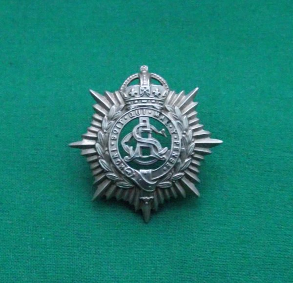 Scarce Edwardian army service corps Volunteers cap badge