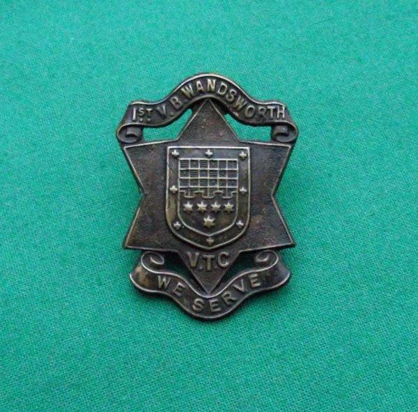 Scarce 1st Volunteer Battalion Wandsworth Volunteer Training Corps c.1914-17