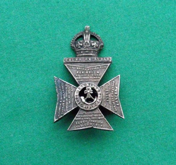 Rare 'Tel El Kebir' King's Royal Rifle Corps Officers Cap Badge
