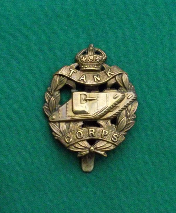 Genuine WW1 Tank Corps Cap Badge